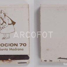 Cajas de Cerillas: ANTIGUA CAJA DE CERILLAS PROMOCION 70 - A.T.S. SANTA MADRONA. Lote 254644940