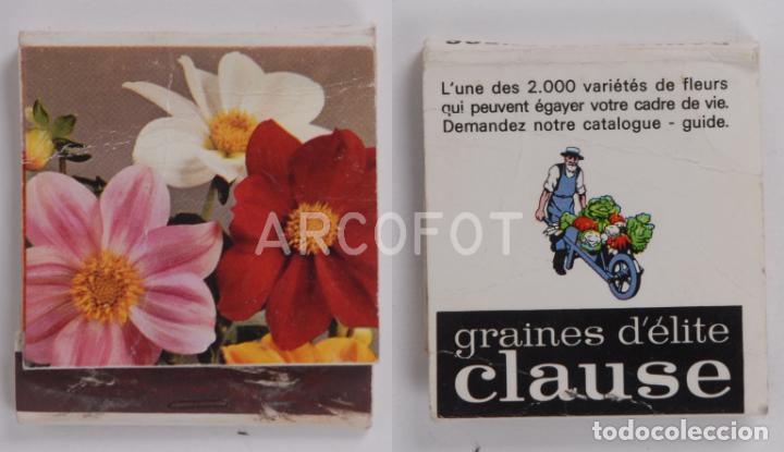 ANTIGUA CAJA DE CERILLAS GRAINES D´ELITE CLAUSE (Coleccionismo - Objetos para Fumar - Cajas de Cerillas)