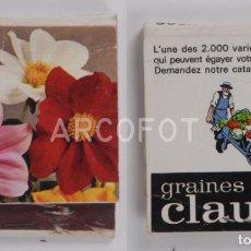 Cajas de Cerillas: ANTIGUA CAJA DE CERILLAS GRAINES D´ELITE CLAUSE. Lote 254645345