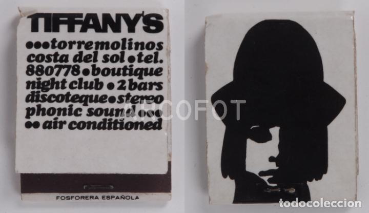 ANTIGUA CAJA DE CERILLAS TIFFANY'S - TORREMOLINOS (Coleccionismo - Objetos para Fumar - Cajas de Cerillas)