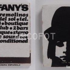 Cajas de Cerillas: ANTIGUA CAJA DE CERILLAS TIFFANY'S - TORREMOLINOS. Lote 254645405