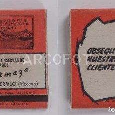 Cajas de Cerillas: ANTIGUA CAJA DE CERILLAS FABRICA DE CONSERVAS DE PESCADOS ORMAZA BRAND - BERMEO (VIZCAYA). Lote 254645510
