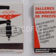 Cajas de Cerillas: ANTIGUA CAJA DE CERILLAS TALLERES MONDRAGONESES DE PRECISION - E.J.E. MONDRAGON (GUIPUZCOA). Lote 254645795
