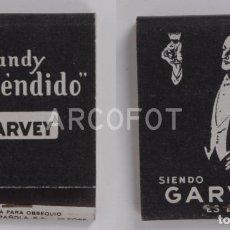 Cajas de Cerillas: ANTIGUA CAJA DE CERILLAS BRANDY ESPLENDIDO GARVEY. Lote 254645890