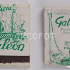 Cajas de Cerillas: ANTIGUA CAJA DE CERILLAS CAFETERÍA GALEON - CASCO VIEJO - BILBAO. Lote 254646430