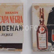 Cajas de Cerillas: ANTIGUA CAJA DE CERILLAS BRANDY CAPA NEGRA - SANDERMAN - JEREZ. Lote 254646740