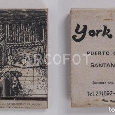 Cajas de Cerillas: ANTIGUA CAJA DE CERILLAS YORK CLUB - PUERTO CHICO - SANTANDER. Lote 254646770