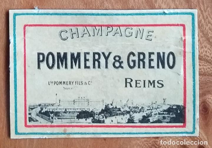 CHAMPAGNE POMMERY & GRENO , REIMS - ANTIGUO CROMO PUBLICITARIO CAJAS CERILLAS AÑOS 20 (Coleccionismo - Objetos para Fumar - Cajas de Cerillas)
