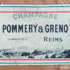 Cajas de Cerillas: CHAMPAGNE POMMERY & GRENO , REIMS - ANTIGUO CROMO PUBLICITARIO CAJAS CERILLAS AÑOS 20. Lote 254938830