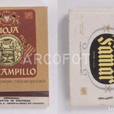 Cajas de Cerillas: ANTIGUA CAJA DE CERILLAS RIOJA VIÑA CAMPILLO - BODEGAS FAMAR - FAUSTINO MARTINEZ - OYON (ALAVA). Lote 255002940