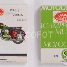 Cajas de Cerillas: ANTIGUA CAJA DE CERILLAS JAWA - MOTOCICLETA - SERVETA. Lote 255003985
