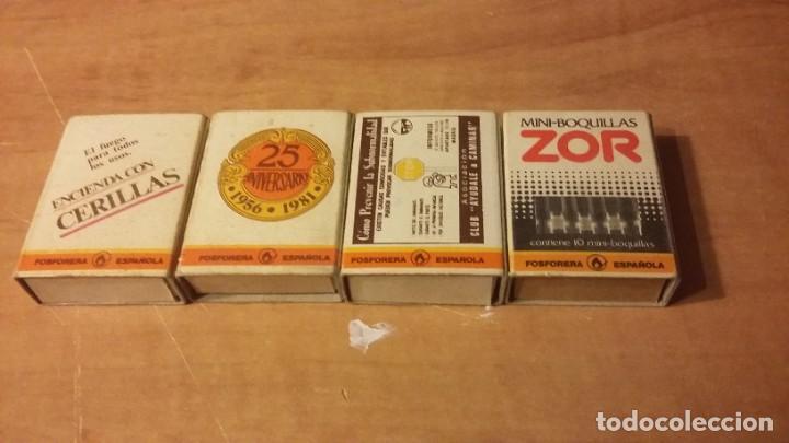 CUATRO CAJAS DE CERILLAS DIFERENTES DE LA FOSFORERA ESPAÑOLA. SIN LOS MIXTOS. FESA (Coleccionismo - Objetos para Fumar - Cajas de Cerillas)