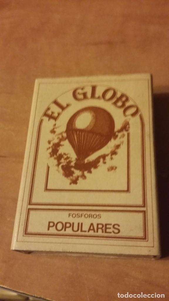 CAJA DE CERILLAS DE LA SERIE VIEJOS TIEMPOS. EL GLOBO Nº12. FÓSFOROS DEL PIRINEO. SIN LOS MIXTOS (Coleccionismo - Objetos para Fumar - Cajas de Cerillas)