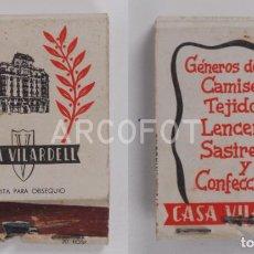Cajas de Cerillas: ANTIGUA CAJA DE CERILLAS CASA VILARDELL - CONFECCIONES. Lote 255587040