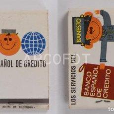 Cajas de Cerillas: ANTIGUA CAJA DE CERILLAS BANCO ESPAÑOL DE CREDITO - BANESTO. Lote 255587395