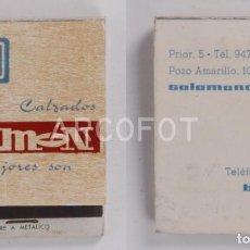 Cajas de Cerillas: ANTIGUA CAJA DE CERILLAS CALZADOS SIMEON - BURGOS - SALAMANCA. Lote 255587690