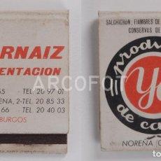 Cajas de Cerillas: ANTIGUA CAJA DE CERILLAS PRODUCTOS YA DE CARNE - NOREÑA (OVIEDO) - ALIMENTACIÓN J. ARNAIZ - BURGOS. Lote 255589820