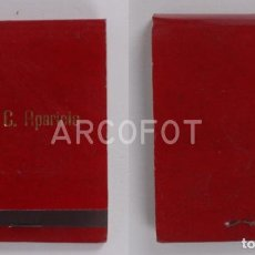 Cajas de Cerillas: ANTIGUA CAJA DE CERILLAS JUAN C. APARICIO - BURGOS. Lote 255591130