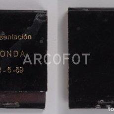 Cajas de Cerillas: ANTIGUA CAJA DE CERILLAS PRESENTACION HONDA - 2 - 6 - 69. Lote 255591775