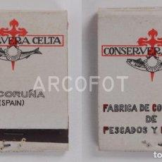 Cajas de Cerillas: ANTIGUA CAJA DE CERILLAS CONSERVERA CELTA - LA CORUÑA (SPAIN). Lote 255592695