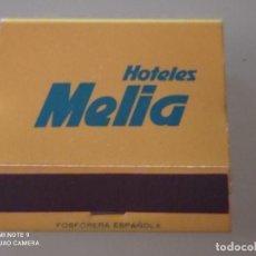 Cajas de Cerillas: RETRO VINTAGE CARTERITA CERILLAS HOTELES MELIA. Lote 257570920