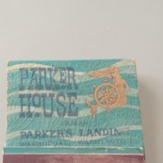 Cajas de Cerillas: RETRO CARTERITA CERILLAS PARKER HOUSE, OREGÓN (CANADÁ). Lote 257767075