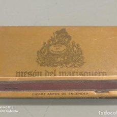 Cajas de Cerillas: RETRO CARTERITA CERILLAS MESON DEL MARISQUERO, VALENCIA. Lote 257882605