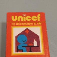 Cajas de Cerillas: RETRO ANTIGUA CAJA CERILLAS 1979 UNICEF AÑO INTERNACIONAL DEL NIÑO,FOSFORERA ESPAÑOLA. Lote 260456865