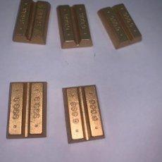 Cajas de Cerillas: PLAYMOBIL LOTE LINGOTES DE ORO BANCO OESTE DE PLÁSTICO. Lote 260758180