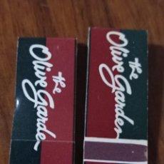 Cajas de Cerillas: RETRO 2 ANTIGUAS MINI CARTERITAS CERILLAS OLIVE GARCEN.. Lote 257631070