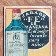 Cajas de Cerillas: JARABE FE DE MANZANA - LAXANTE PARA NIÑOS - ANTIGUO CROMO PUBLICITARIO CAJAS CERILLAS AÑOS 20. Lote 261593115
