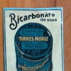 Cajas de Cerillas: BICARBONATO DE SOSA - ANTIGUO CROMO PUBLICITARIO CAJAS CERILLAS AÑOS 20. Lote 261593350