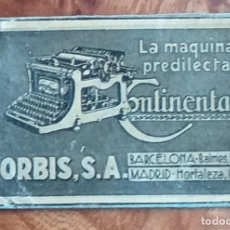 Cajas de Cerillas: MAQUINA DE ESCRIBIR - ORBIS - ANTIGUO CROMO PUBLICITARIO CAJAS CERILLAS AÑOS 20. Lote 262034325