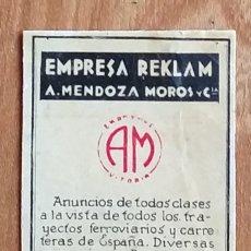 Cajas de Cerillas: EMPRESA RECKLAN - ANUNCIOS - VITORIA - ANTIGUO CROMO PUBLICITARIO CAJAS CERILLAS AÑOS 20. Lote 262042880