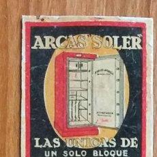 Cajas de Cerillas: ARCAS SOLER - BARCELONA - ANTIGUO CROMO PUBLICITARIO CAJAS CERILLAS AÑOS 20. Lote 262241450