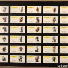 Cajas de Cerillas: LÁMINA CON 30 TAPAS CERILLAS COLECCIÓN COCHES ANTIGUOS (SERIE COMPLETA). FOSFORERA ESPAÑOLA.. Lote 265183529