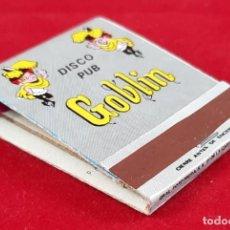 Cajas de Cerillas: CAJA DE CERILLAS DISCOTECA GOBLIN - ASPE. Lote 265349214