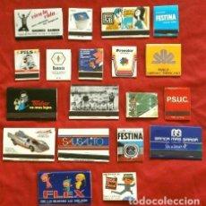 Cajas de Cerillas: LOTE DE 19 CAJAS DE CERILLAS PUBLICIDAD AÑOS 60-70 - FLEX, PACTRA, PROCOLOR, EURO PILS, CIFUENTES. Lote 265648164