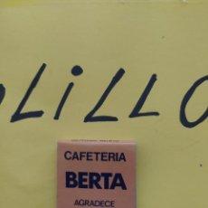 Cajas de Cerillas: CAJA DE CERILLAS CAFETERÍA BERTA TORREMOLINOS. Lote 267456479