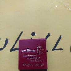 Cajas de Cerillas: CAJA DE CERILLAS FORTIS AUTOMATICO SUMERGIBLE ANTICHOQUE CASA DIPU. Lote 267457789
