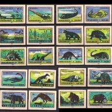 Cajas de Cerillas: 40 ETIQUETAS TAPAS DE CAJAS CERILLAS * CHECOSLOVAQUIA DINOSAURIOS. Lote 269834043