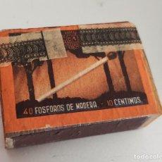 Cajas de Cerillas: ANTIGUA CAJA DE CERILLAS 40 FOSFOROS DE MADERA CELLADA PRECINTO MONOPOLIO DE CERRILLAS. Lote 269837858