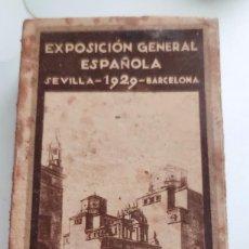 Cajas de Cerillas: ANTIGUA CAJA DE CERILLAS EXPOSICIÓN GENERAL ESPAÑOLA SEVILLA BARCELONA 1929 MONOPOLIO DE CERILLAS NO. Lote 269844588