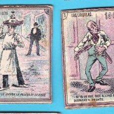 Boîtes d'Allumettes: FRONTAL DE CAJAS DE CERILLAS VARIAS, HISTORIETAS. 4 FRONTALES. FINAL SIGLO XIX, PRINCIPIOS DEL XX.. Lote 270885513