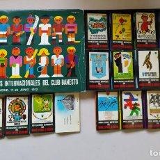 Cajas de Cerillas: COLECCIÓN CERILLAS BANESTO AÑO 1973. Lote 272340128