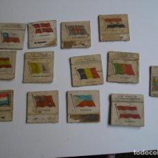 Cajas de Cerillas: LOTE 13 CAJA CERILLAS AÑOS 60 BANDERAS. Lote 274282033