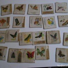 Cajas de Cerillas: LOTE 21 CAJA CERILLAS AÑOS 60 MARIPOSAS. Lote 274282733