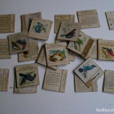 Cajas de Cerillas: LOTE 28 CAJA CERILLAS AÑOS 60 PAJAROS. Lote 274283503