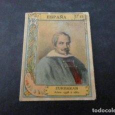 Cajas de Cerillas: ZURBARAN CROMO CAJA DE CERILLAS SIGLO XIX. Lote 275761173