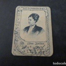 Cajas de Cerillas: DECLAMACION ELISA BOLDUN CROMO CAJA DE CERILLAS SIGLO XIX. Lote 275761378